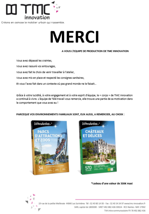 "TMC INNOVATION DIT ""MERCI"""